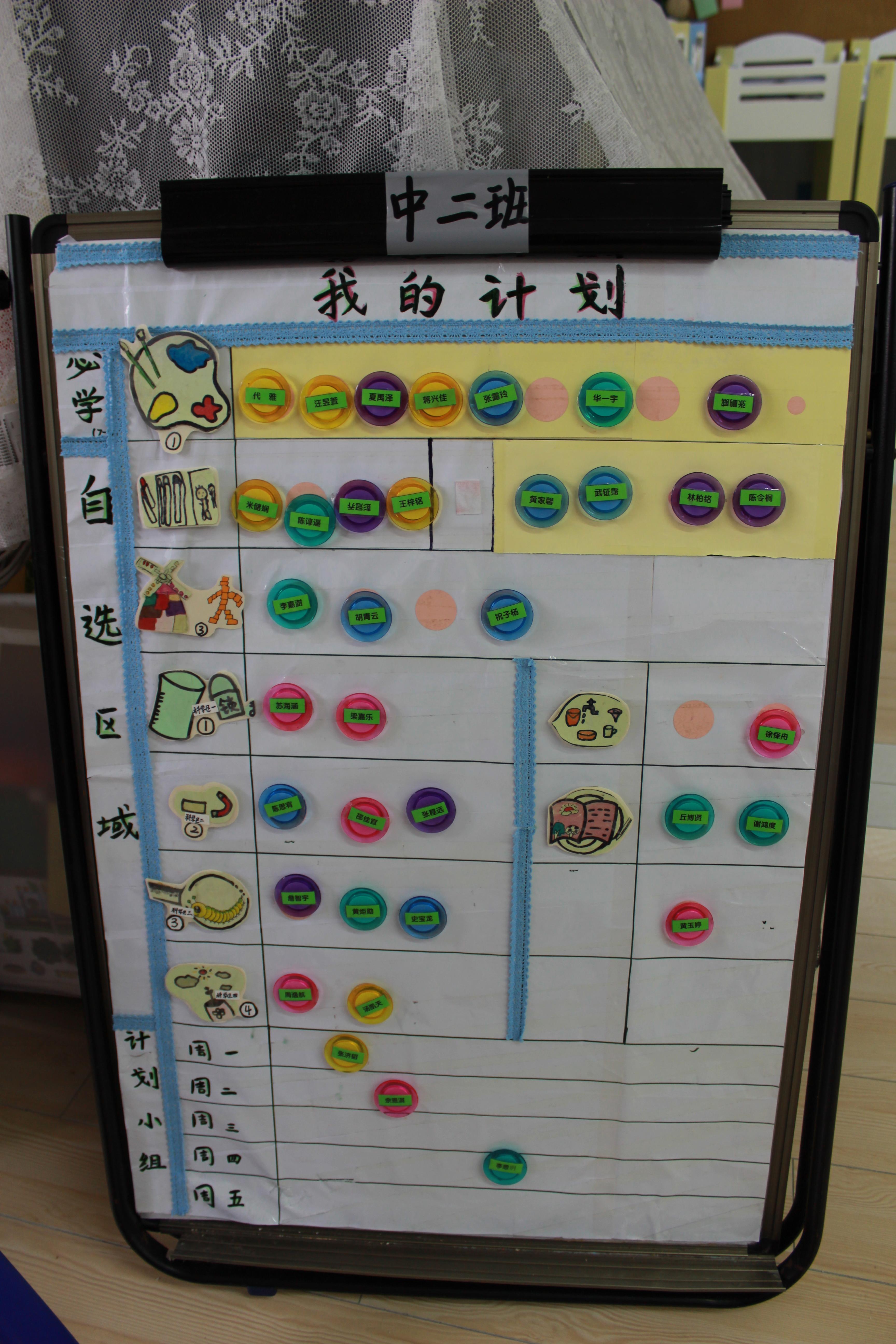 幼儿园计划环节用的计划版