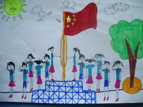 六年级优秀美术作业----祖国在我心中图片