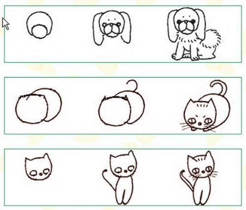 动物简笔画绘画步骤(zt)