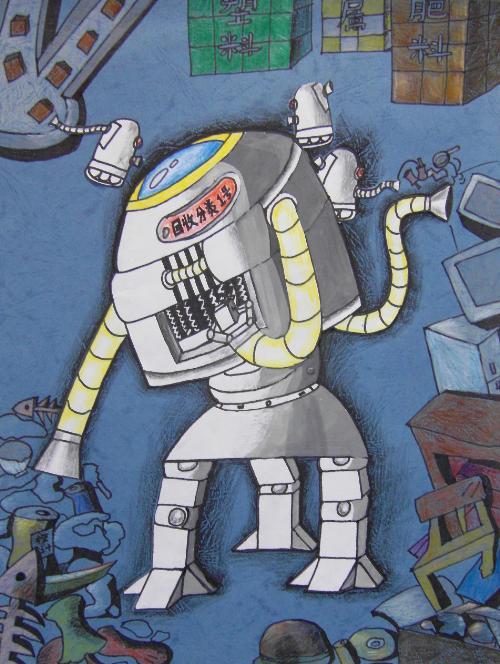 大班幼儿垃圾分类绘画作品图片