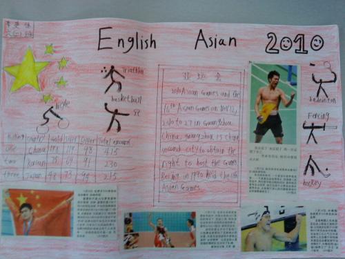 六年级学生手抄报作品展之广州亚运会