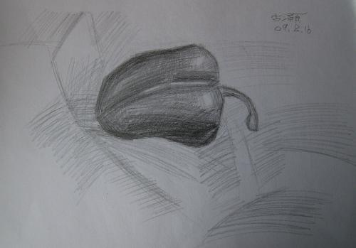 素描作品 青椒(smjw)