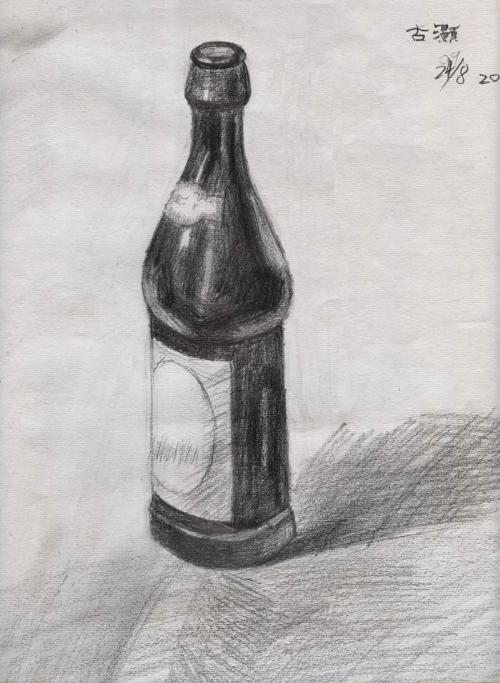 酒瓶 素描静物 SMJW