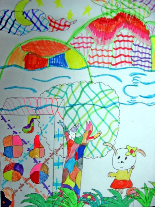 风景--水彩笔装饰画(苏书影)